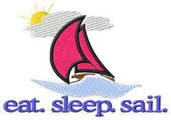 Sail (Boat) embroidery design