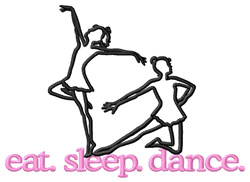 Dance (Dancers) embroidery design
