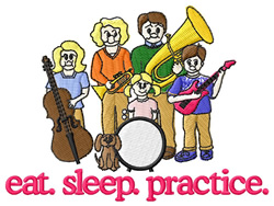 Practice (Band) embroidery design