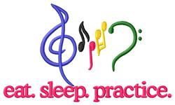 Practice (Music Logo) embroidery design
