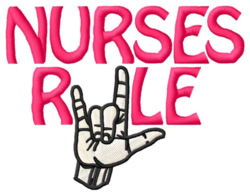 Nurses Rule embroidery design