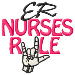 ER Nurses Rule embroidery design