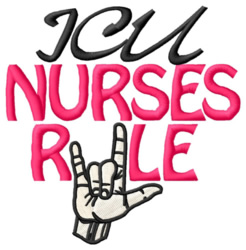 ICU Nurses Rule embroidery design