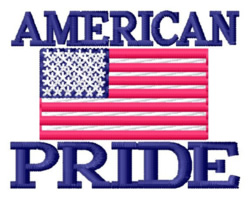 American Pride embroidery design