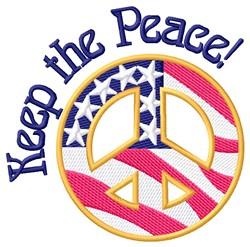 Keep The Peace embroidery design
