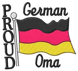 Proud Oma embroidery design