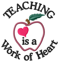 Work of Heart embroidery design