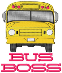 Bus Boss embroidery design