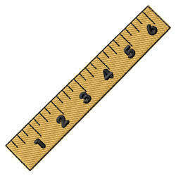 Ruler embroidery design