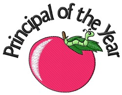 Principal Of Year embroidery design