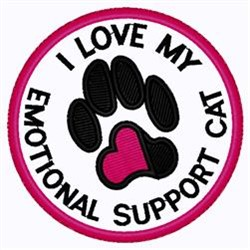 Emotional Support Cat embroidery design