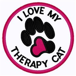 My Therapy Cat embroidery design