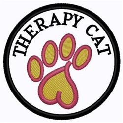 Therapy Cat embroidery design