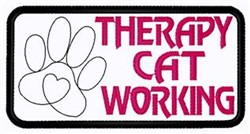 Cat Working embroidery design