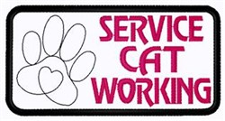 Service Cat Working embroidery design