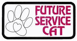 Future Service Cat embroidery design
