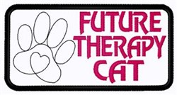 Future Therapy Cat embroidery design