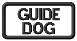 Guide Dog Label embroidery design
