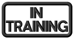 In Training Label embroidery design