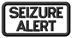 Seizure Alert Label embroidery design