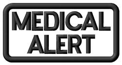 Medical Alert Label embroidery design