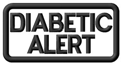 Diabetic Alert Label embroidery design