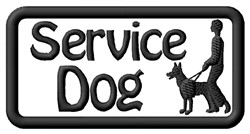 Service Dog Label embroidery design