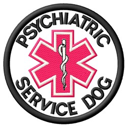 Psychiatric Service Dog Patch embroidery design