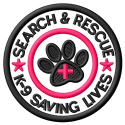 Search & Rescue Patch embroidery design