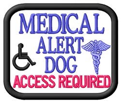 Medical Alert Patch embroidery design