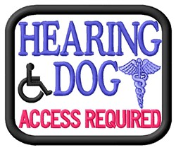 Hearing Dog Patch embroidery design