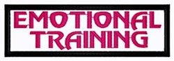 Emotional Training Patch embroidery design