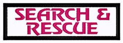 Search & Rescue Patch embroidery design