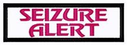 Seizure Alert Patch embroidery design