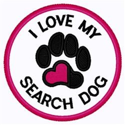 Search Dog Patch embroidery design