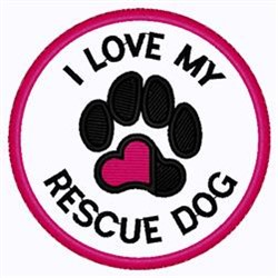 Rescue Dog Patch embroidery design