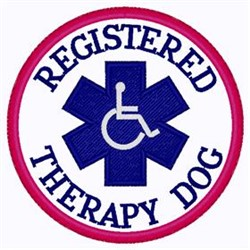 Registered Therapy Patch embroidery design