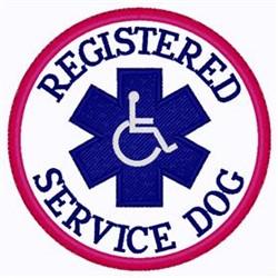Registered Service Dog embroidery design