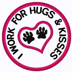Hugs and Kisses Patch embroidery design
