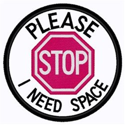 I Need Space Patch embroidery design