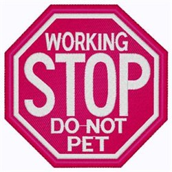 Do Not Pet embroidery design