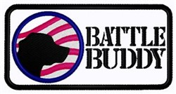 Battle Buddy Patch embroidery design