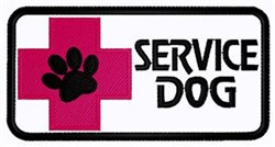 Service Dog Patch embroidery design
