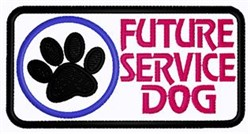 Future Service Dog Patch embroidery design