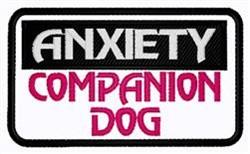 Anxiety Companion Dog embroidery design