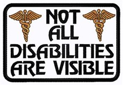 Not All Disabilities Patch embroidery design