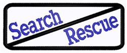 Search And Rescue Patch embroidery design