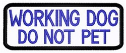 Working Dog Patch embroidery design