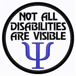 Disability Patch embroidery design