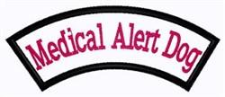 Medical Alert Dog Patch embroidery design
